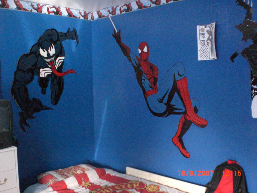 Spiderman Wall Art Spiderman Wall Mural Ebay With