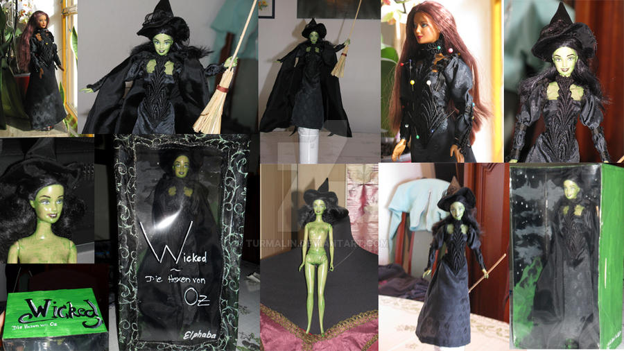 Elphaba Barbie Doll by Turmalin