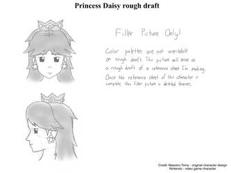 Princess Daisy head design reference (rough draft) by Maestro-Tomy