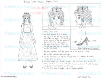 Princess Esther Casales Reference Sheet 1 by Maestro-Tomy