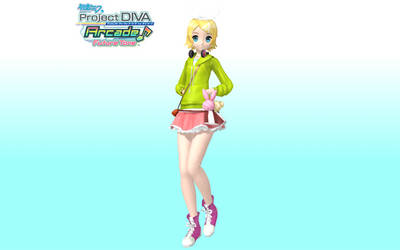Project Diva Arcade Future Tone Melancholy Rin by WeFede