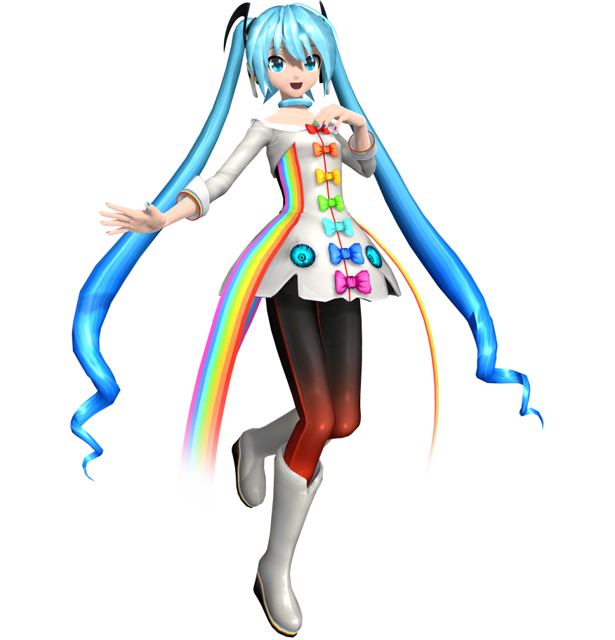 .:Rainbow Line Miku:. by Luke-Flame