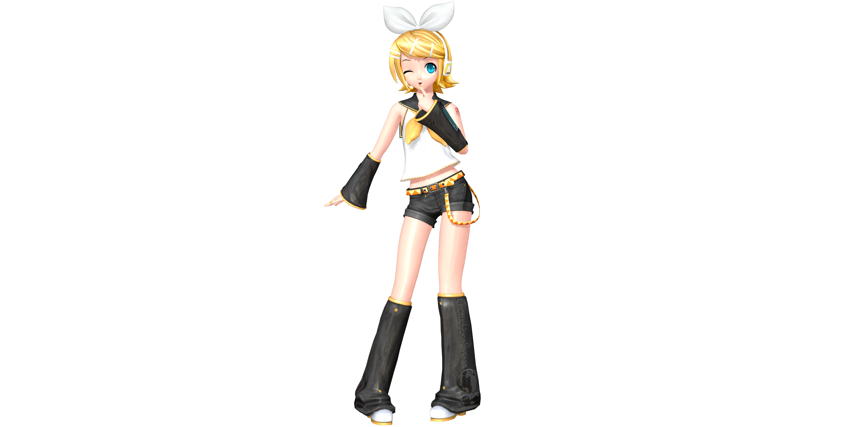 Project diva future tone default rin by wefede on deviantart - Kagamine rin project diva ...