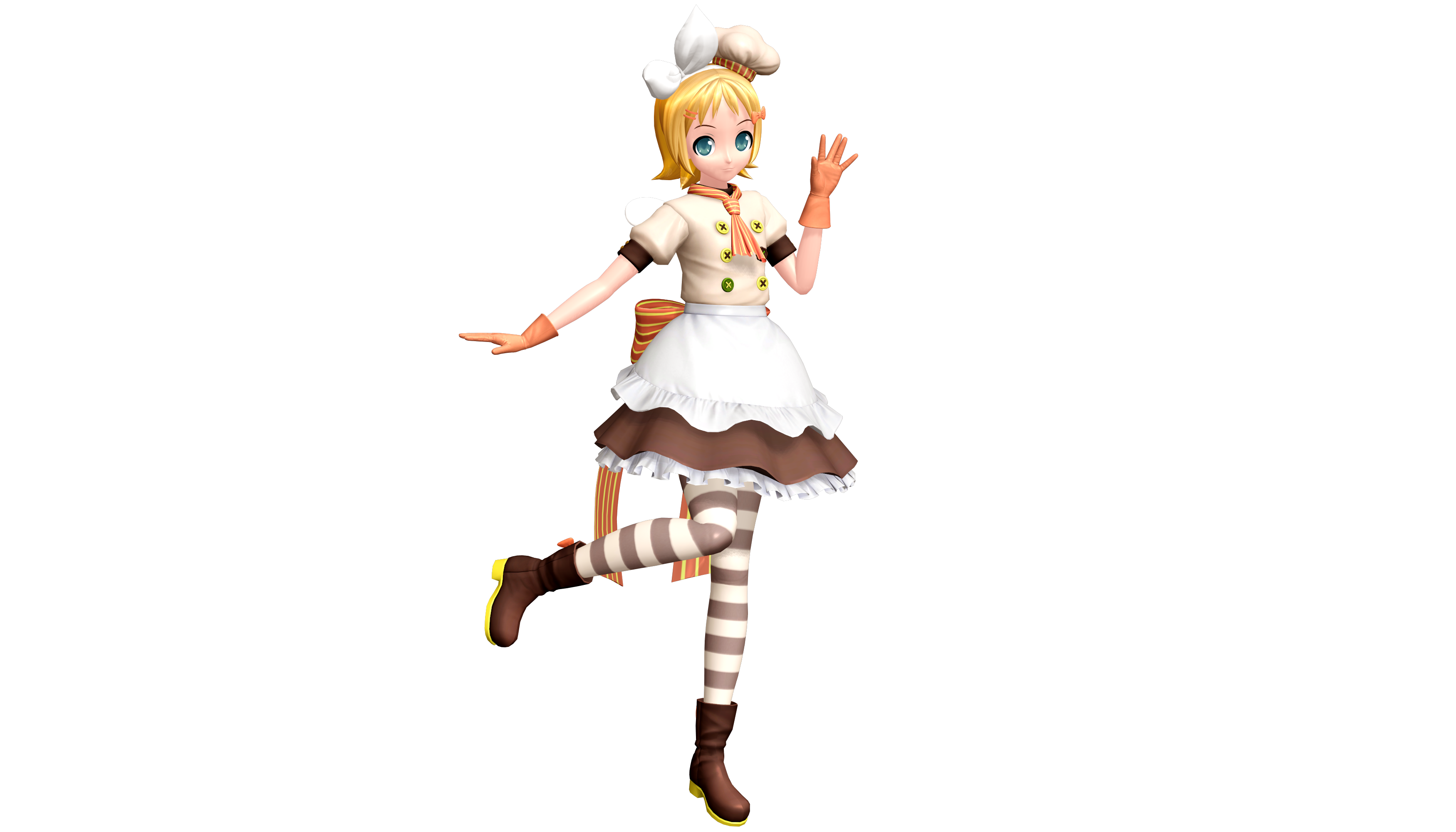 project diva future tone magic chef rin by lukeflame