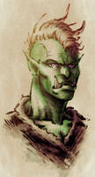 Sketch: Female Orc by Teoft