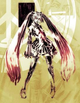 Sketch: HatsuneMikuDraw -  Peace Walker Version