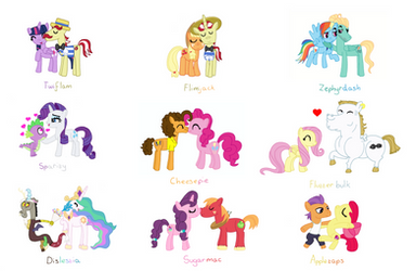 My Favourite MLP Ships - Handdrawn by PurpleWonderPower