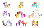 My Favourite MLP Ships - Handdrawn