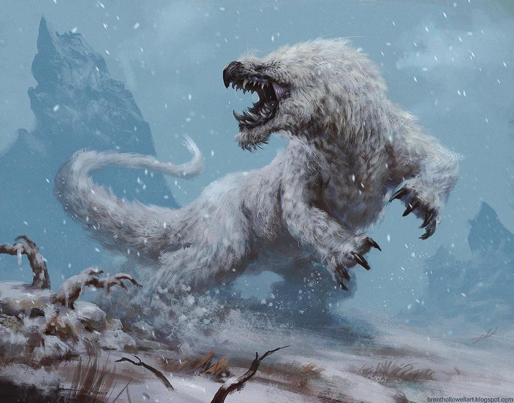 snow creature by BrentHollowellArt on DeviantArt I Am Really Sorry Wallpaper