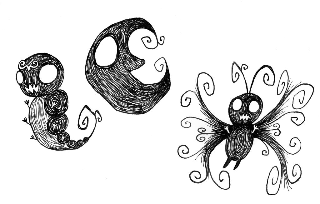 #010 Caterpie, #011 Metapod, #012 Butterfree by Fallmusic
