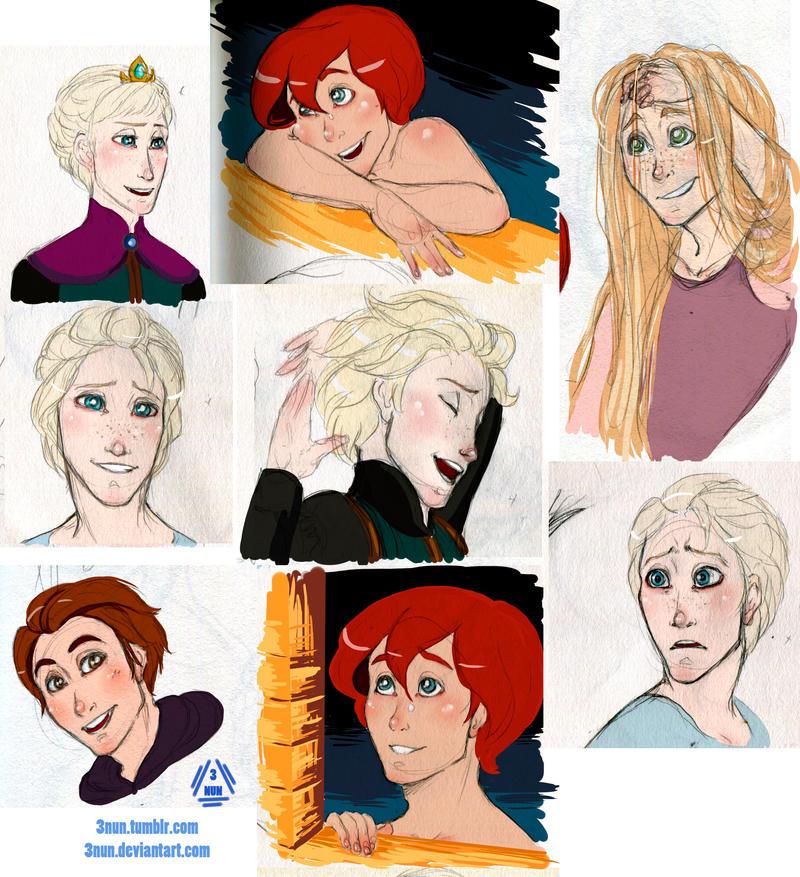 Disney gender bender by 3Nun on DeviantArt  Disney gender b...