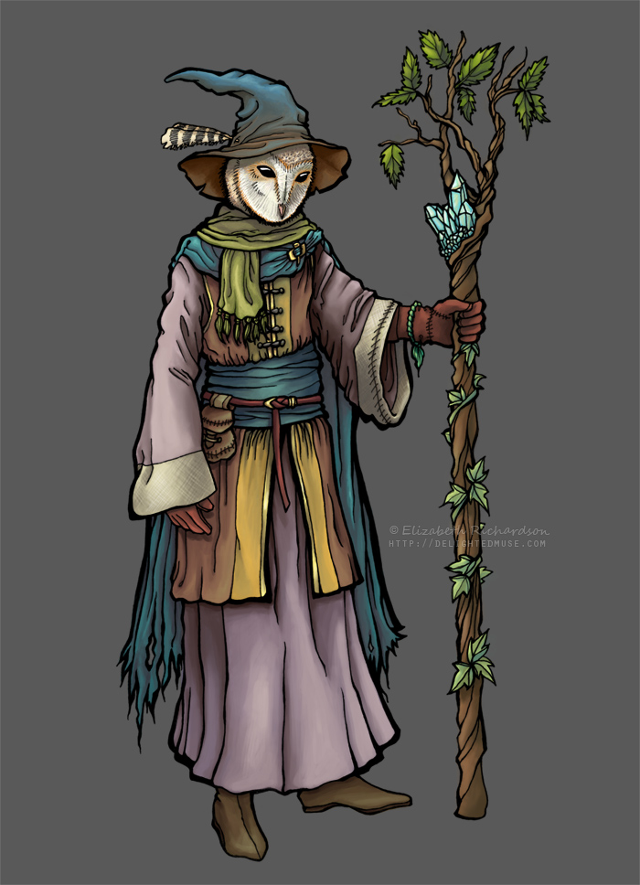 The Owl Mage by delightedmuse