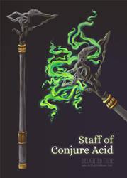 Staff of Conjure Acid Item Details by delightedmuse