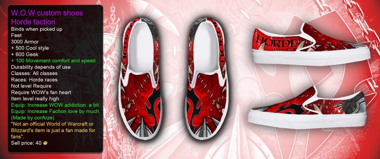 WOW Horde custom shoe by corArze