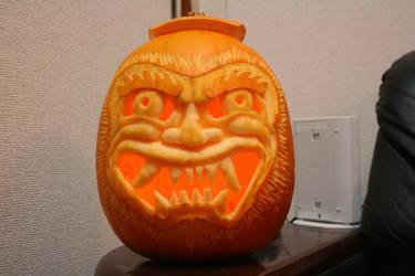 Oni Pumpkin by MussBot