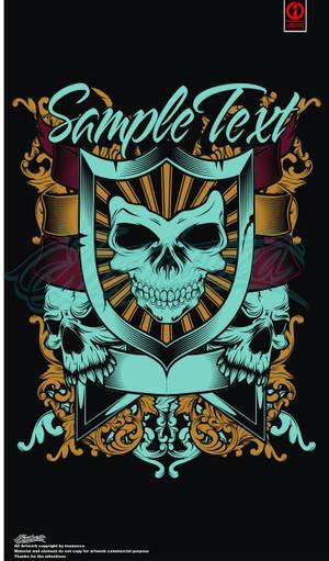 Design for sale _skull ornat