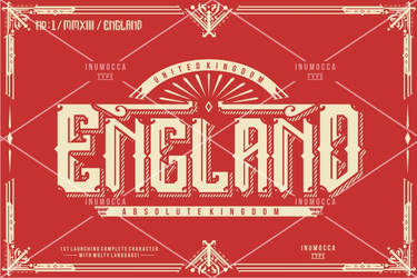 England font by inumocca