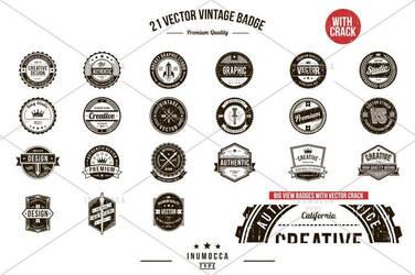 21 Vintage Badges