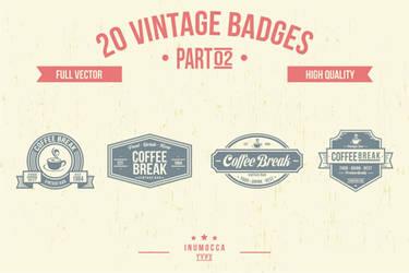 2O Vintage Badges