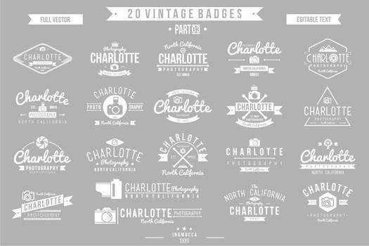 2O Vintage Badges 03 (EDITABLE TEXT)