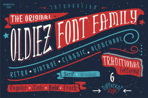 Oldiez Font Family
