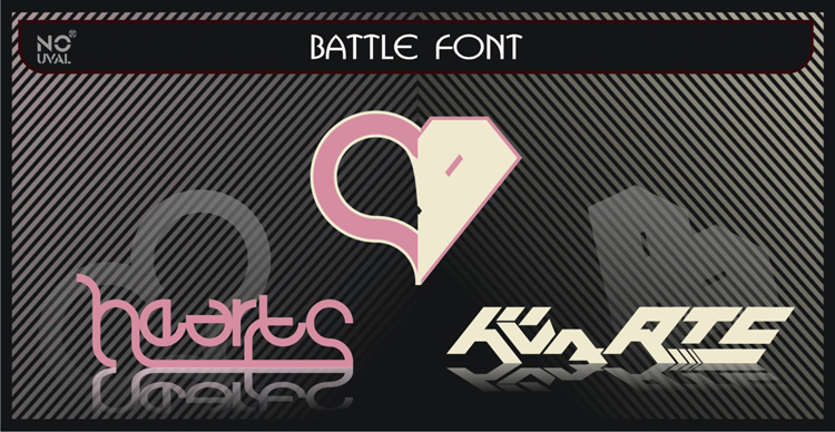 battle Font by inumocca