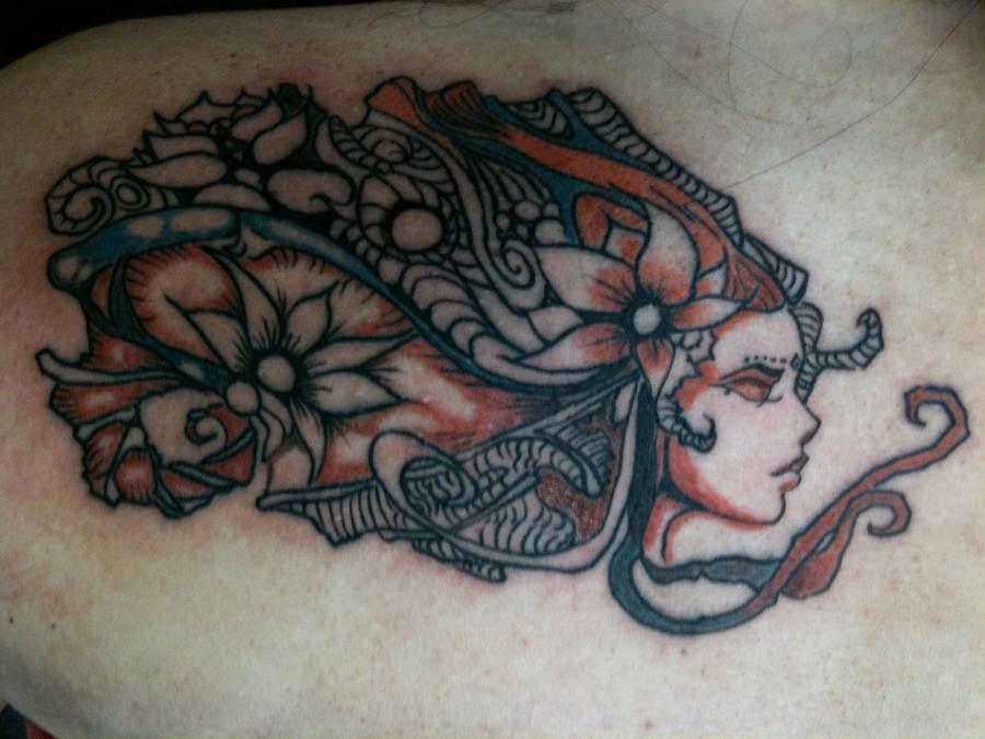 Ndelusop Full Back Tattoo Design For Women And Girls This