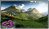 Stamp - Mountains are Love by Kotego