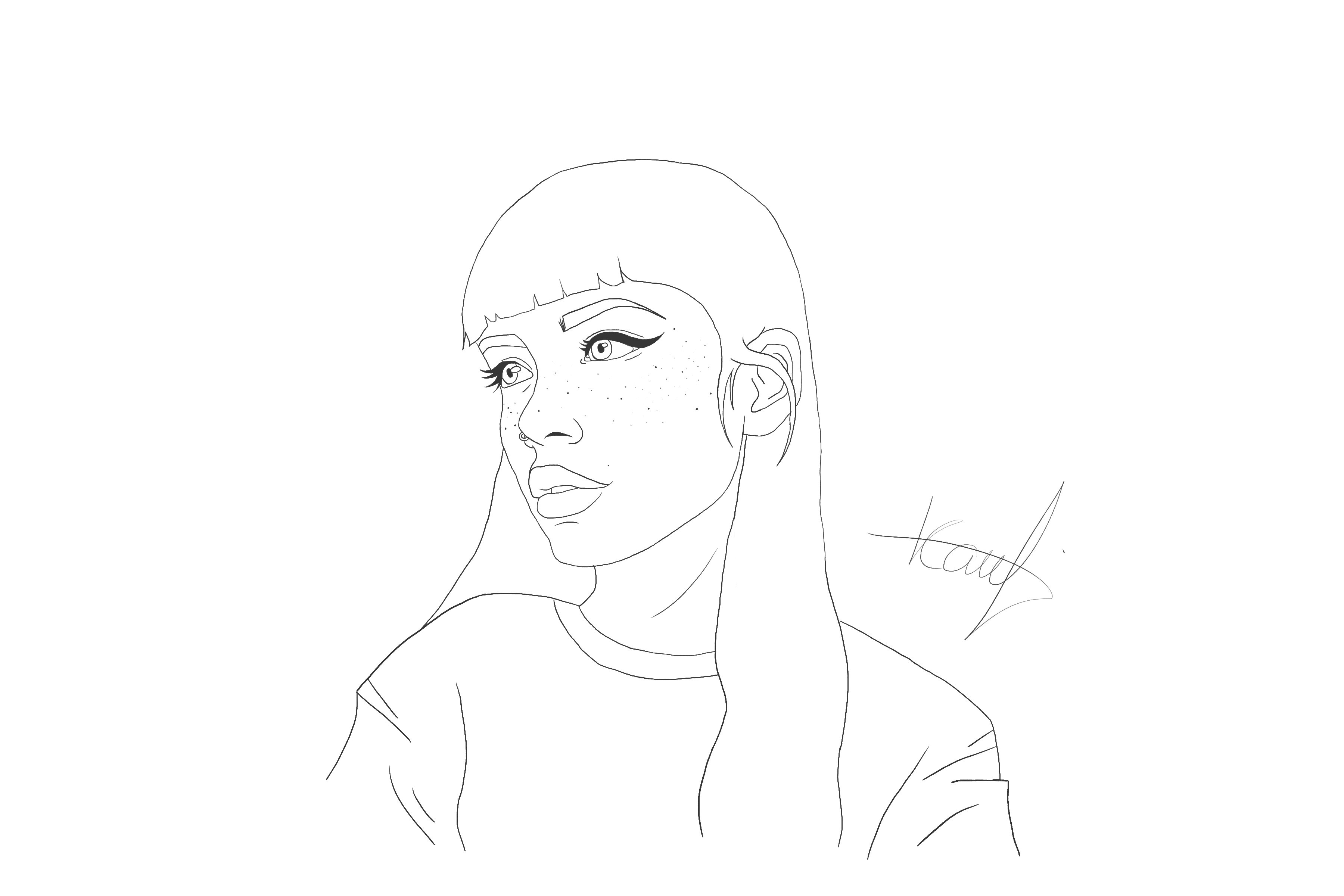 Digital Painting Without Lineart : Digital lineart by kylievaandrager on deviantart