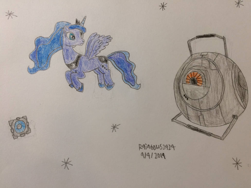 Luna and the Space Sphere by rainbows2424