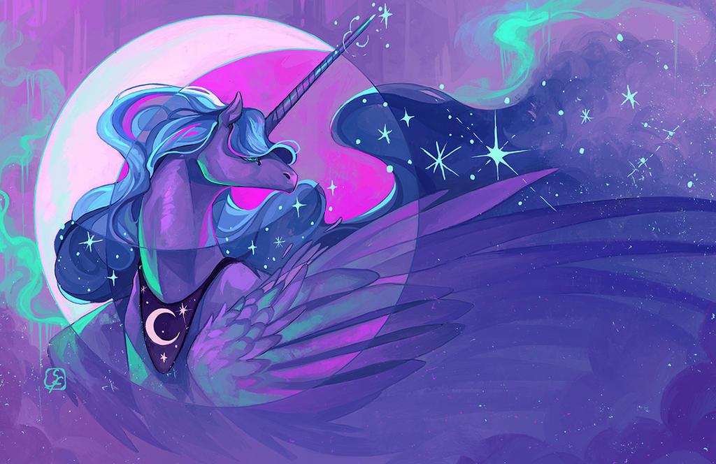 .:MLP:. Princess Luna by not-unicorn