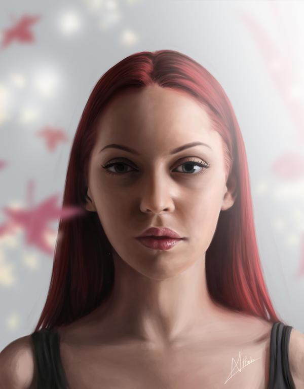 Digital Portrait {FaeStock} [Speed Painting] by Nishant321go