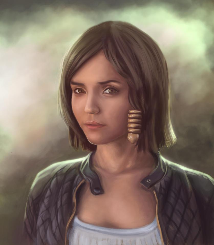 Portrait [Akaomy] + {SpeedPaint} by Nihant321go