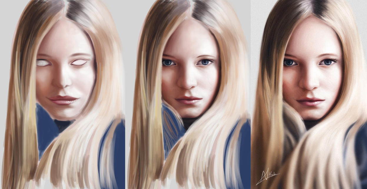 Portrait 3 - Maud Welzen [Drawing Process] by Nihant321go