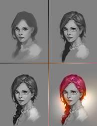 Portrait 09  [Drawing Process] by Nishant321go