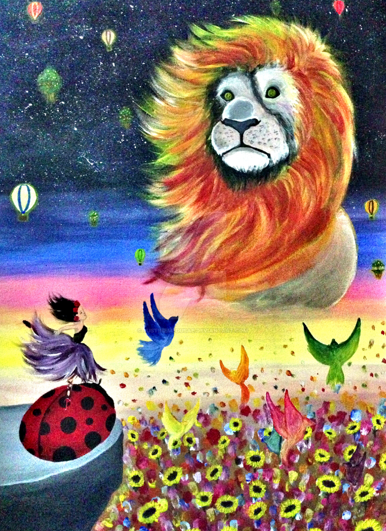 Myself on Canvas by Justinemedusae