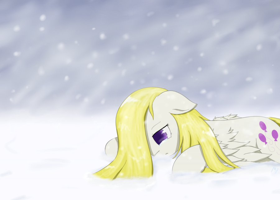 Request - Sad Surprise in the Snow by Muffinsforever