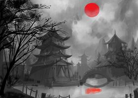 japanese silhouette by nexgen69