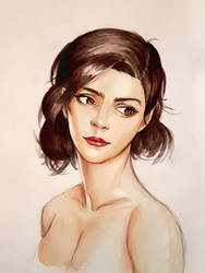 watercolor portrait study