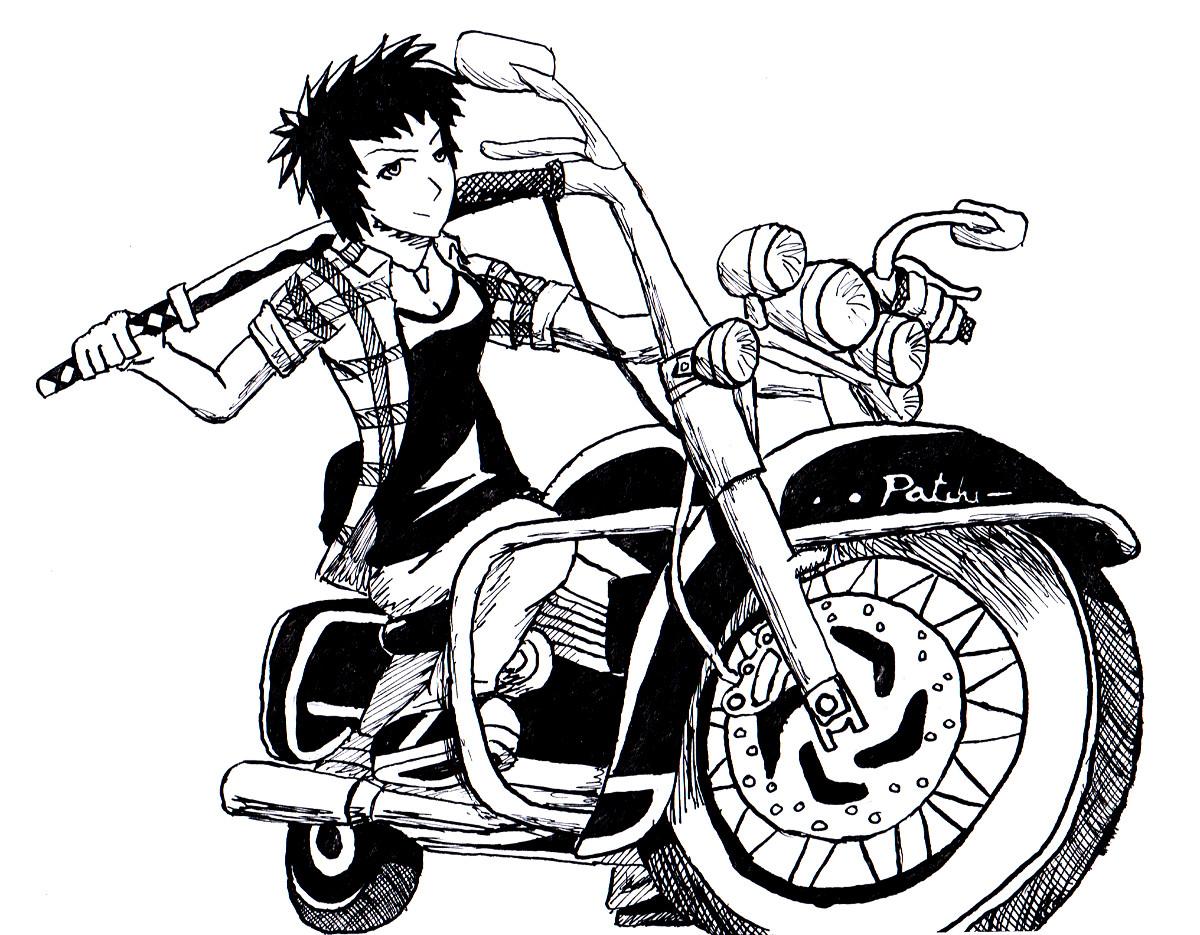 les p'tits dessins du Patchi!!! Patchi_biker_by_lepatchi-d47ke1s