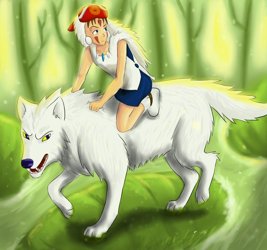 Mes fanart [Patchi] Princess_mononoke_by_lepatchi-d58o7iq