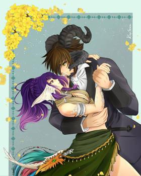 Comission - Au Ra couple