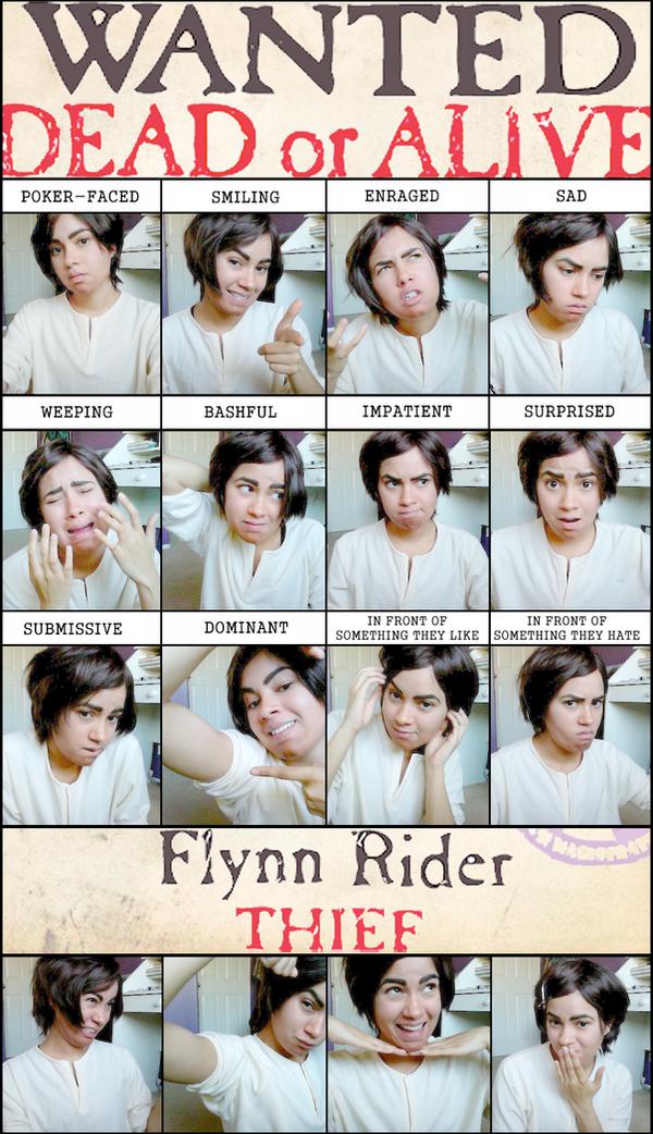 Flynn Rider: Expression Meme by kaleso