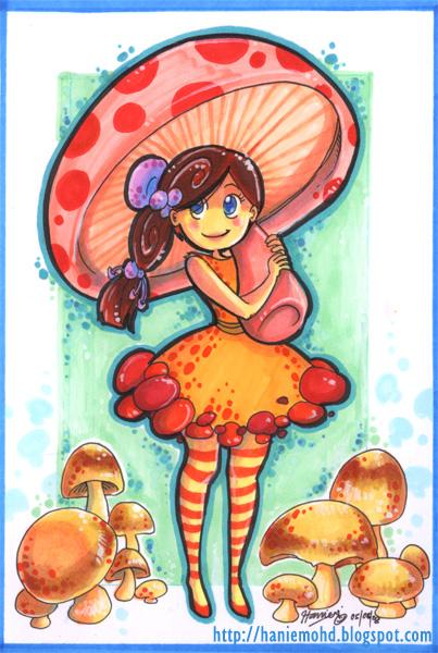 Mushroom Girl by HanieMohd