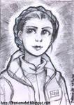 Braided Leia - Sketchcard