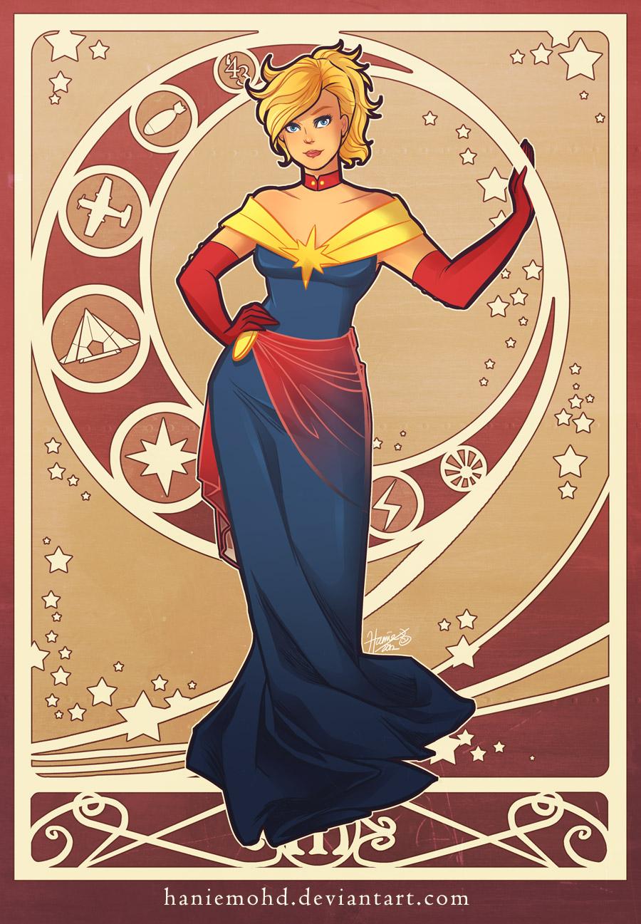 Stephanie Davidson (2044) Marvelous_captain_marvel_by_haniemohd-d5mou2r