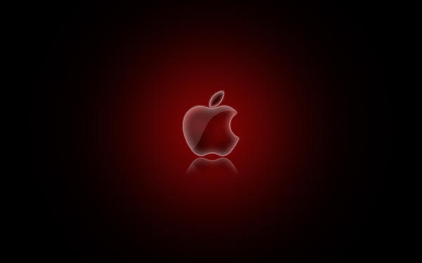 Apple Logo Wallpaper Red by CAB19 on deviantART