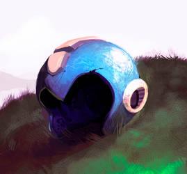 Mega Man's Helmet by Noe-Leyva