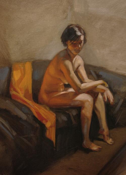 Oil Figure Painting By Noe Leyva