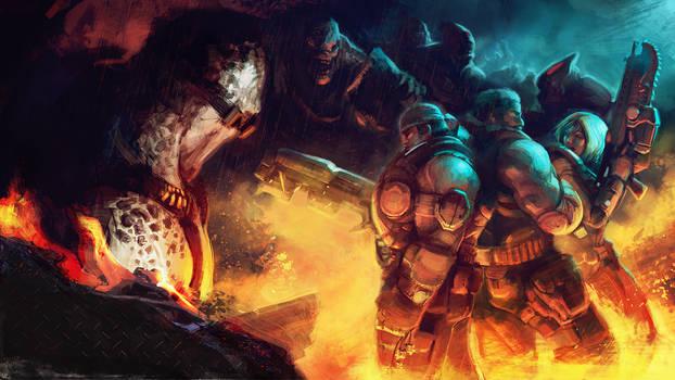 Gears of war 3 contest entry by Noe-Leyva